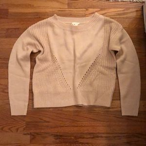 NWT Aeropostale pale pink sparkly sweater